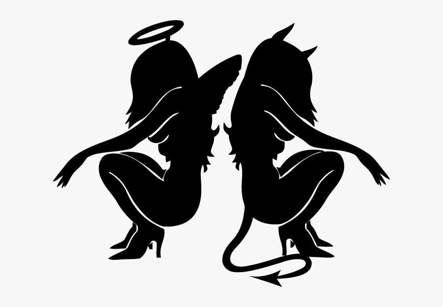 Tattoo Devil Gemini Angel Demon.
