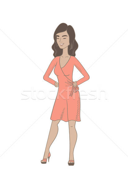 Hispanic woman Stock Vectors, Illustrations and Cliparts.