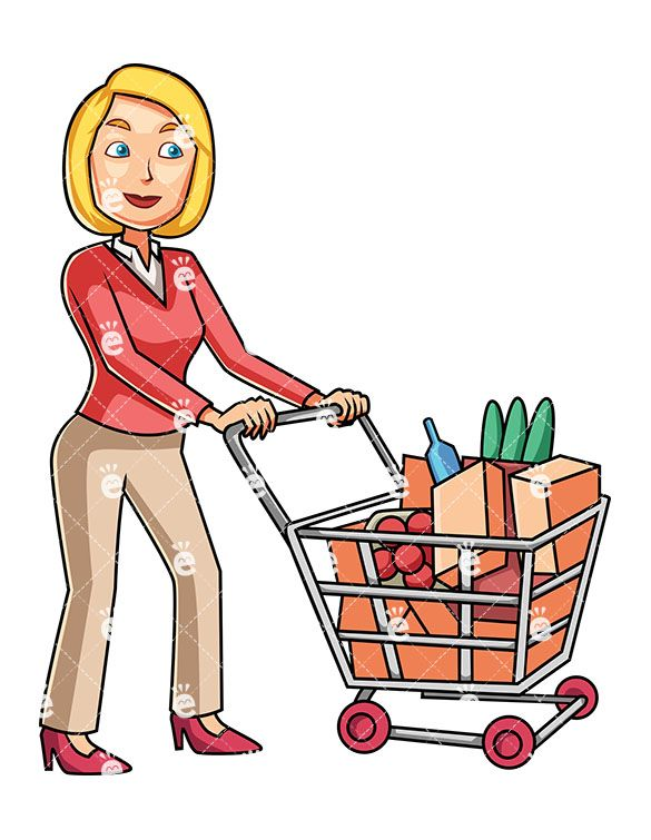 A Woman Doing Some Grocery Shopping in 2019.