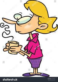 Image result for woman drinking coffee clipart.