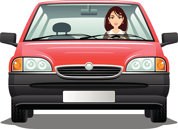 Best Woman Driving Car Illustrations, Royalty.