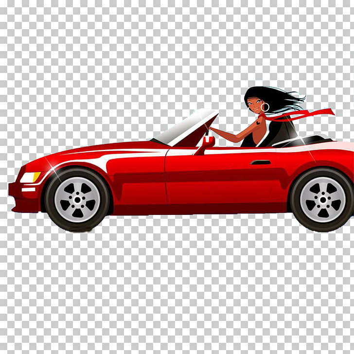 Woman Driving , Sports car girl PNG clipart.