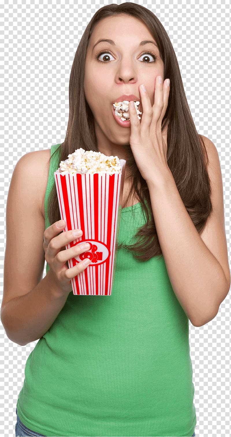 Popcorn Eating Fast food, popcorn transparent background PNG.