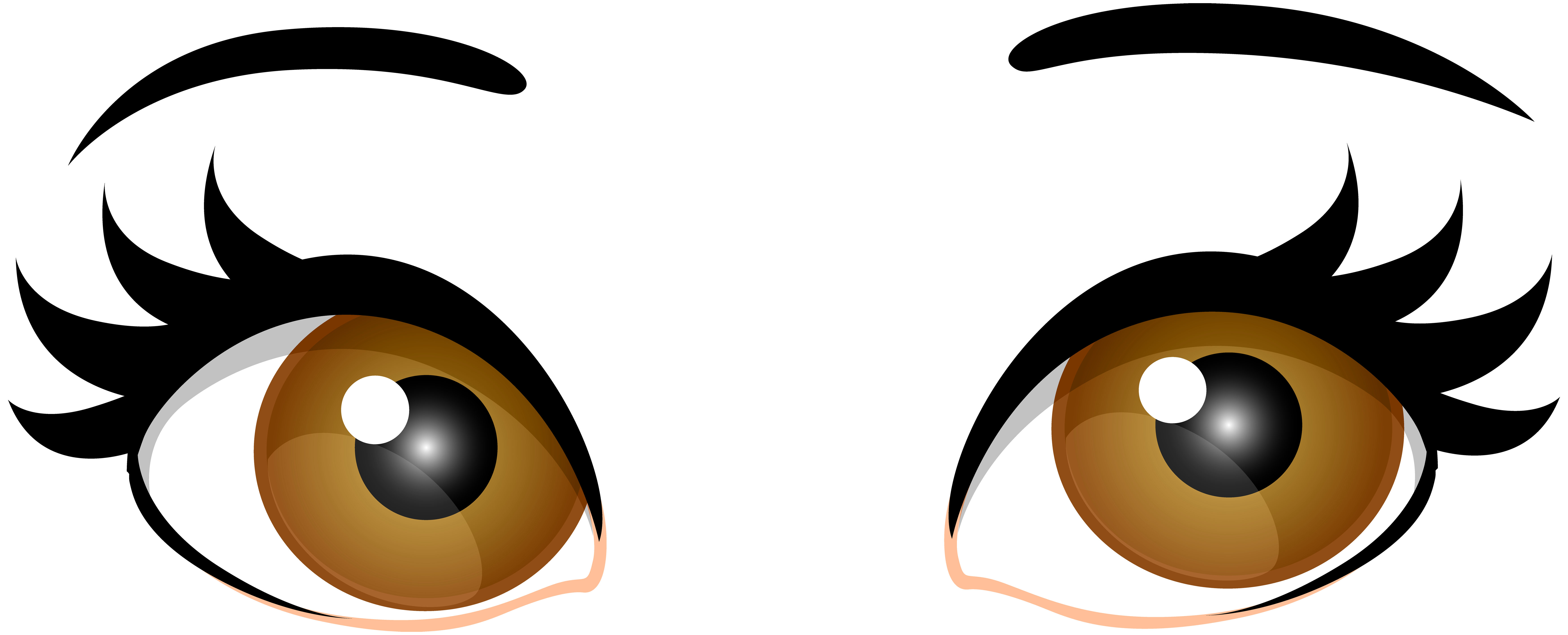 Brown Female Eyes PNG Clip Art.