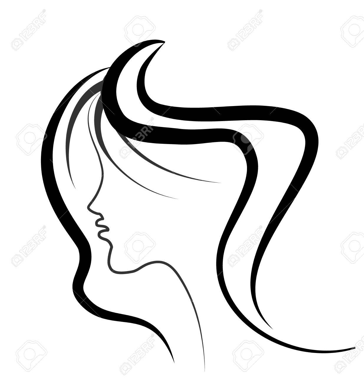 Woman beauty face vector.