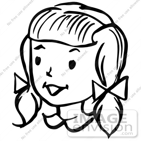 Woman face clipart black and white 5 » Clipart Station.