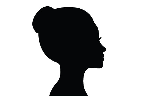 Woman Face Silhouette Vector at GetDrawings.com.