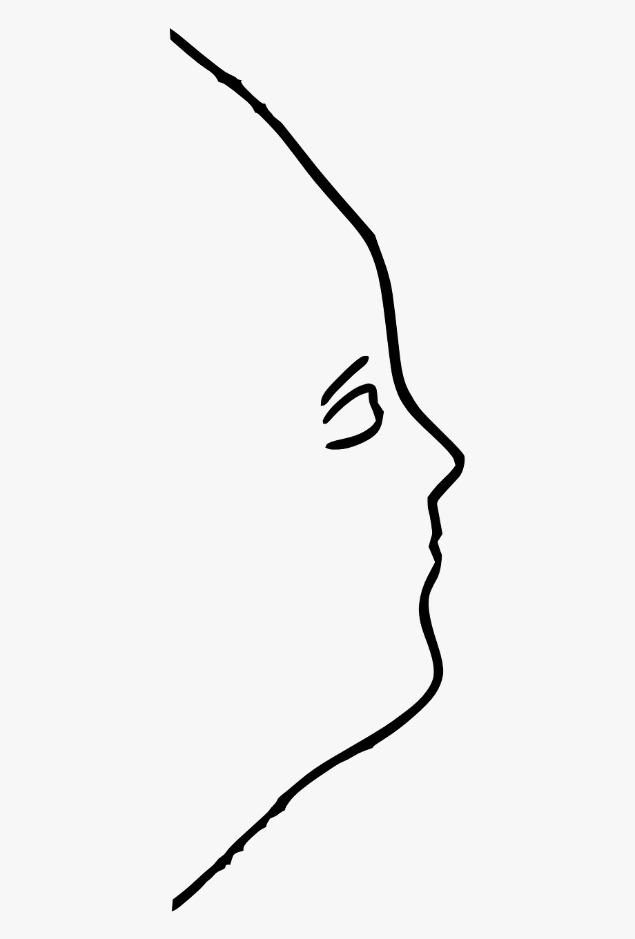 Outline Of Woman\'s Face Side View, Cliparts & Cartoons.