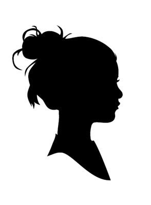 Side View Silhouette Girl.