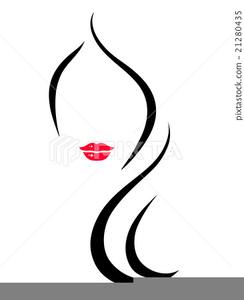 Clipart Woman Face Silhouette.