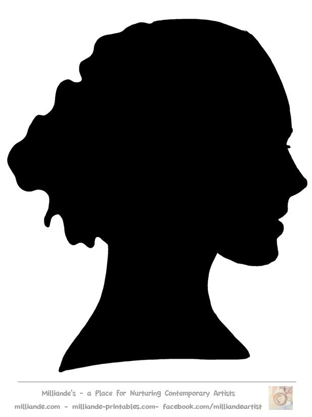 Female Face Silhouette Images.