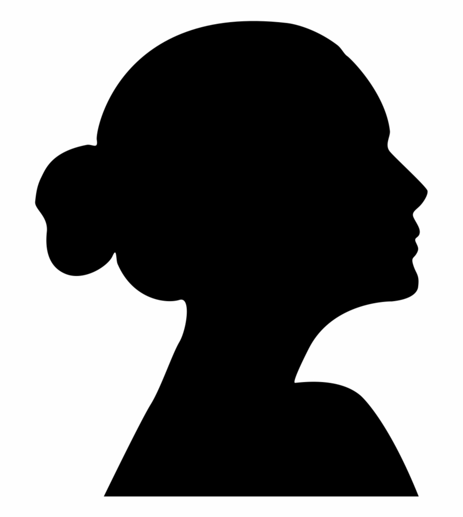Silhouette, Child, Woman, Face Png Image With Transparent.