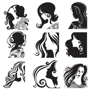 Free Vectors: Women Face Vectors.