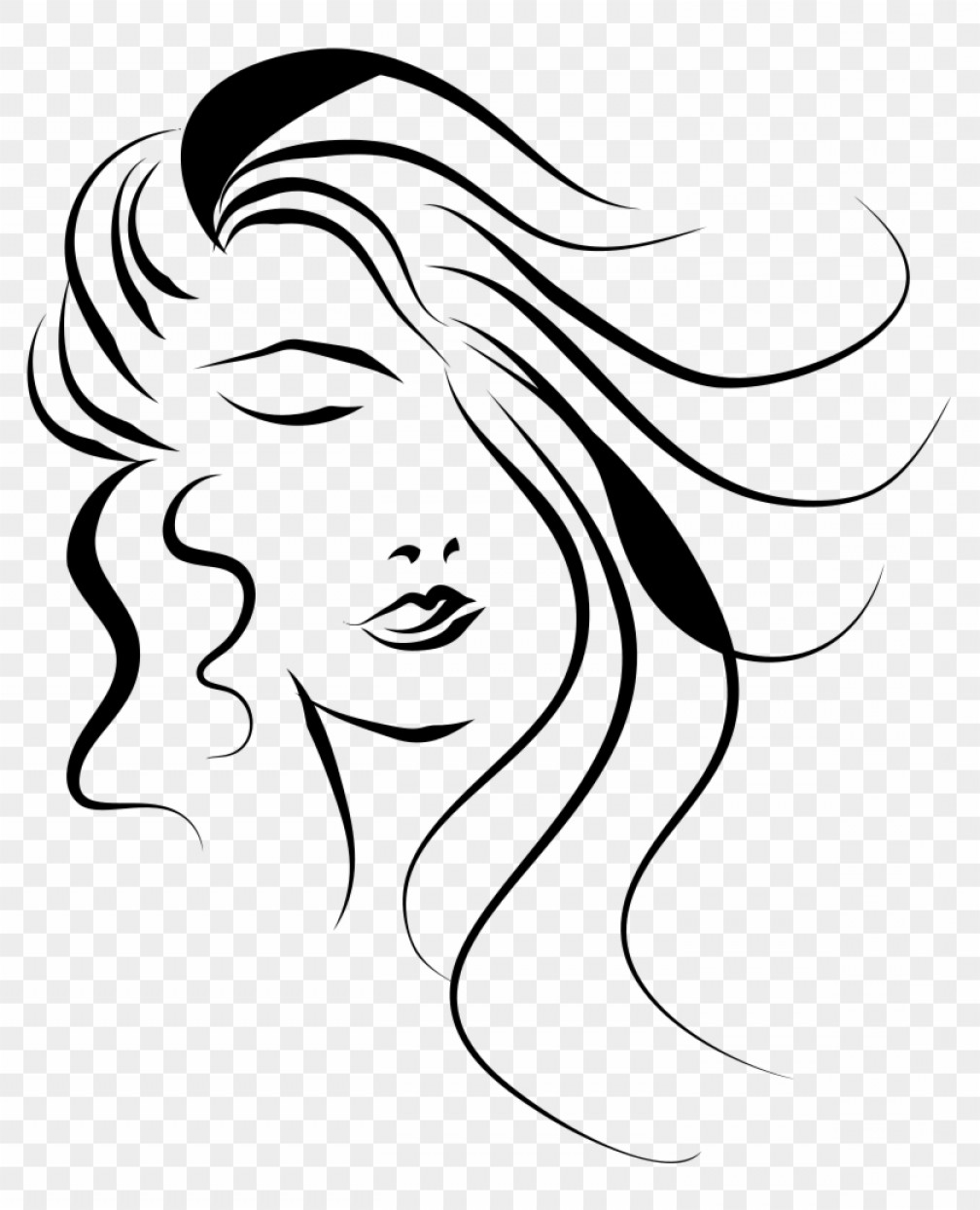 Mhhdbznnwomans Face Line Art Vector Woman Face Png.