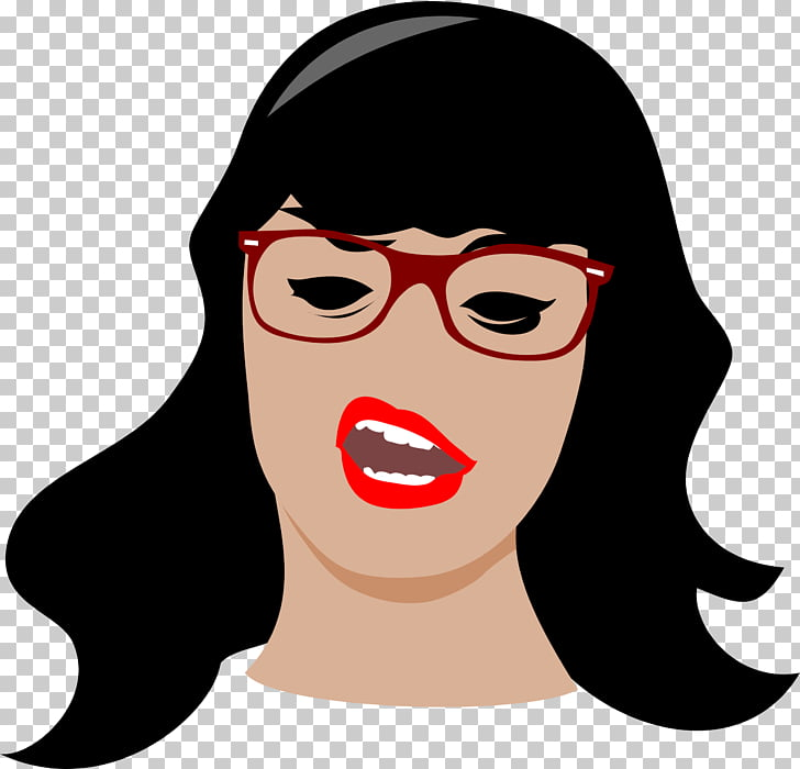 Woman Girl haughtiness , Girl Glasses s PNG clipart.