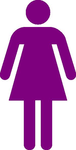 Purple Woman Figure Clip Art at Clker.com.