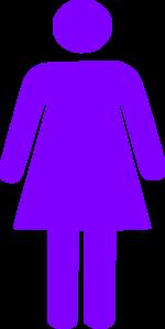 Purple Girl Figure Clip Art at Clker.com.