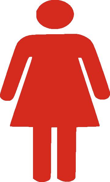 Red Female Figure Clip Art at Clker.com.