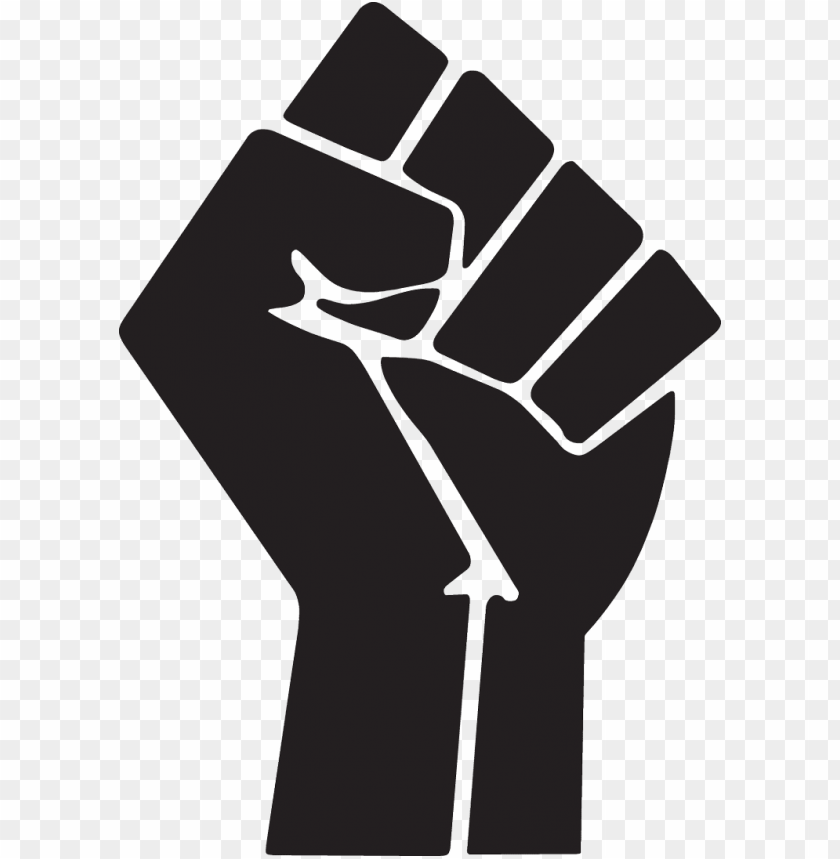 raised fist symbol clip art.