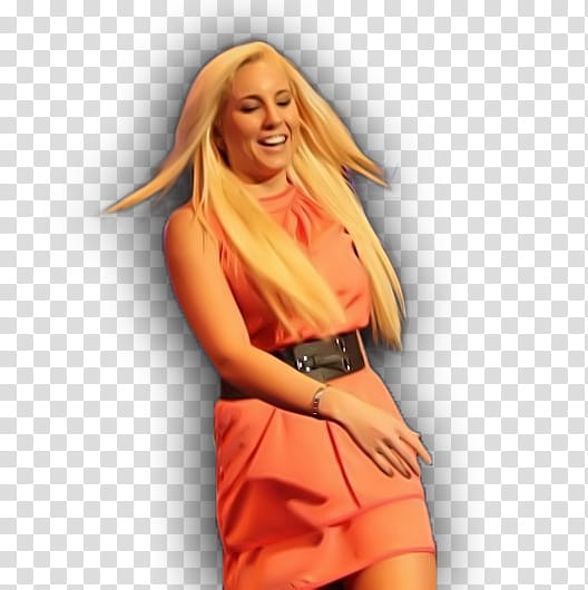 Woman flip her hair while walking transparent background PNG.