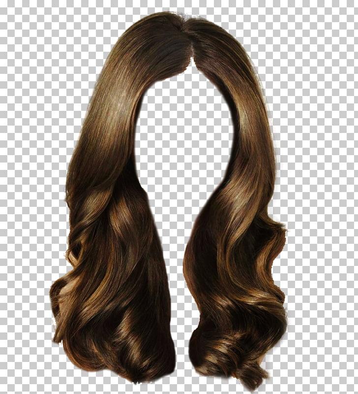 Brown hair Long hair Wig , Rejoice pull hair clip Free, long.