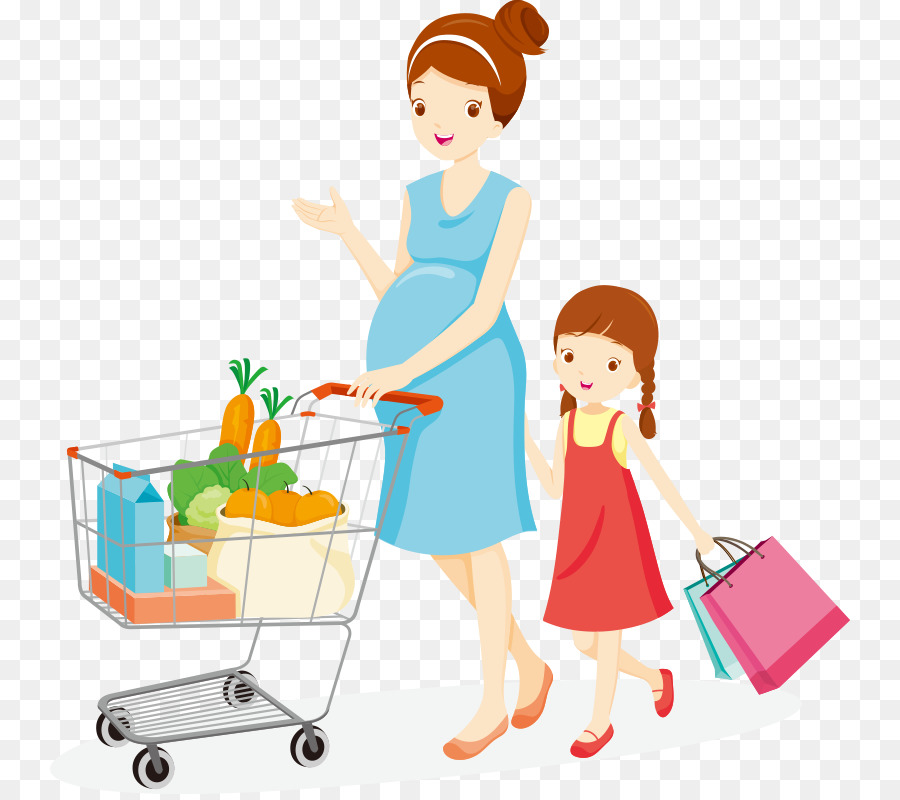 Buy clipart food shopping, Buy food shopping Transparent.