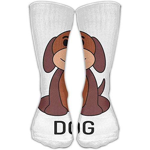 Simple Dog Clip Art Men\'s Women\'s 30Cm Casual Soft Fashion Sport Socks.