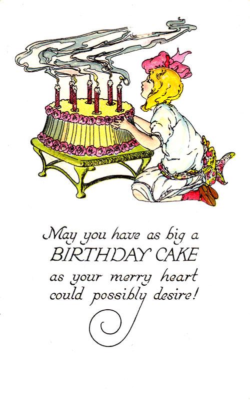 Funny Women Birthday Clipart.