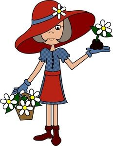 Red Hat Ladies Clip Art.