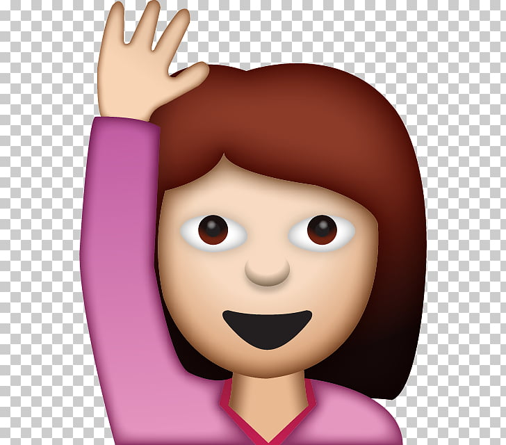 Emoji Woman Gesture Smiley iPhone, saying PNG clipart.