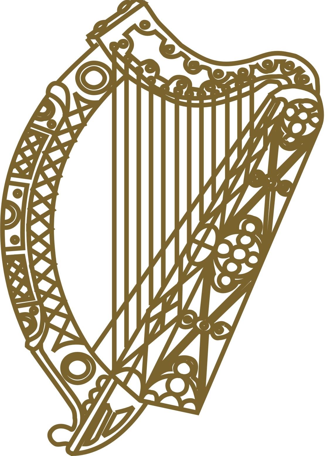 Irish Harp Clip Art.