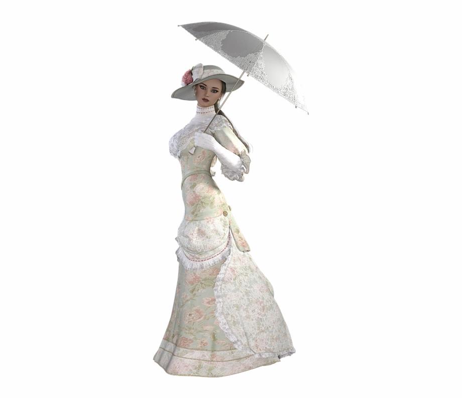 Woman Png Female Character 3D Model Pose Rendering.