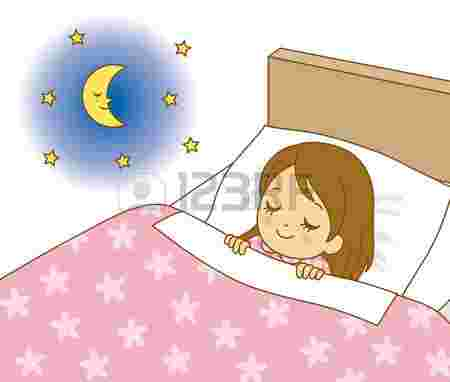 Free Cliparts: Girl In Bed Clipart Happy Girl Lying On Pink.