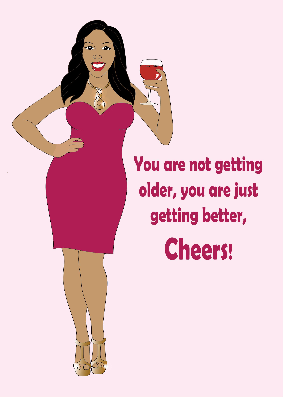 Happy Birthday Woman Clipart