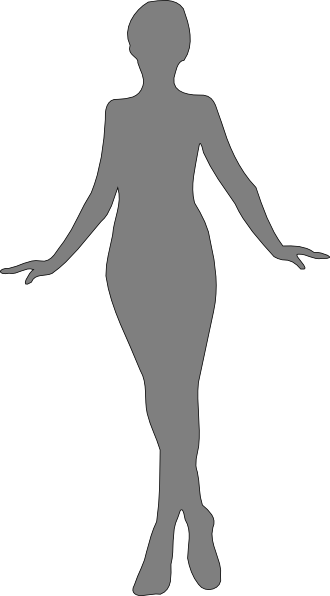 Woman, Silhouette, Gray Clip Art at Clker.com.