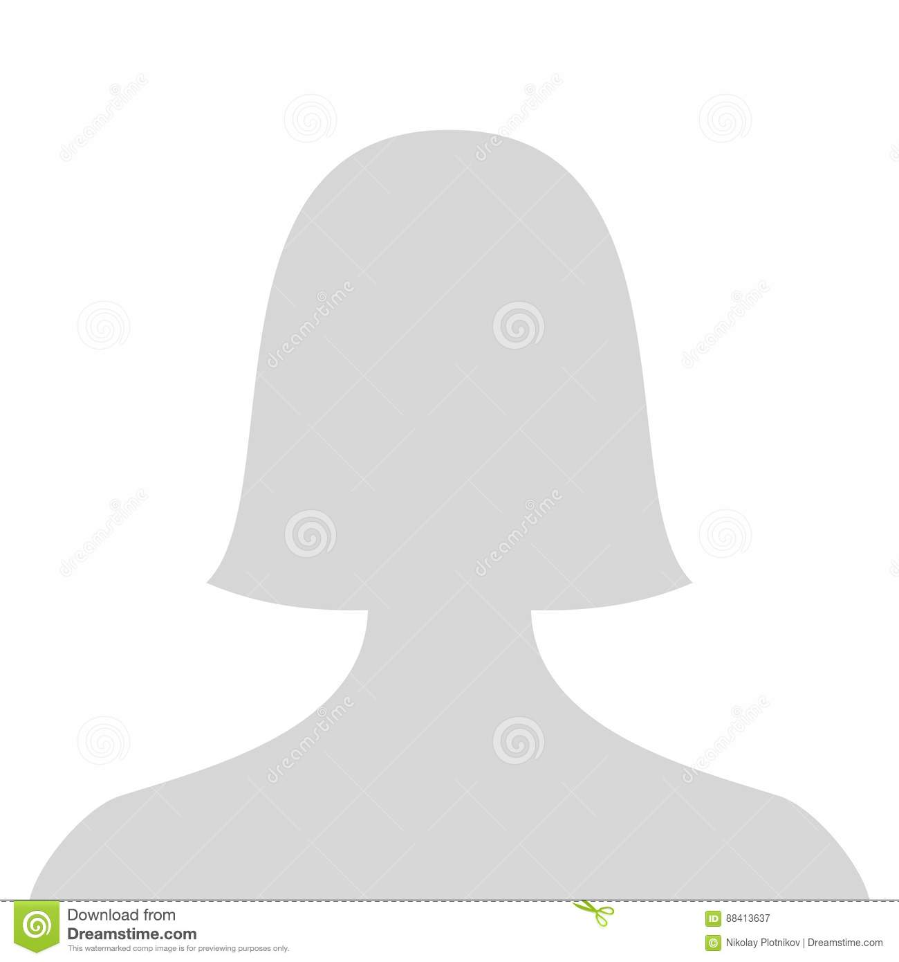 Female Silhouette Head Grey.