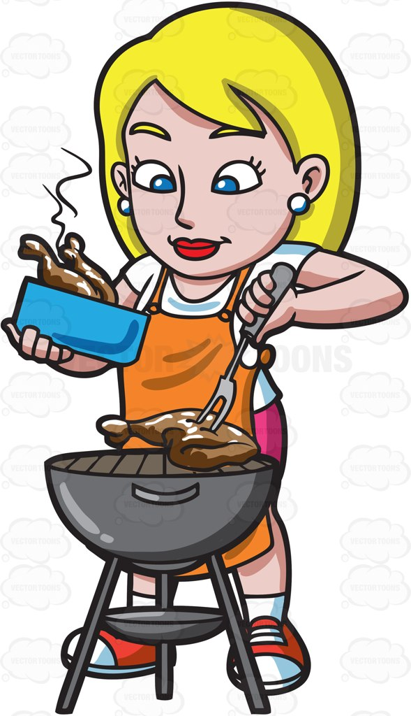 216 Grilling free clipart.
