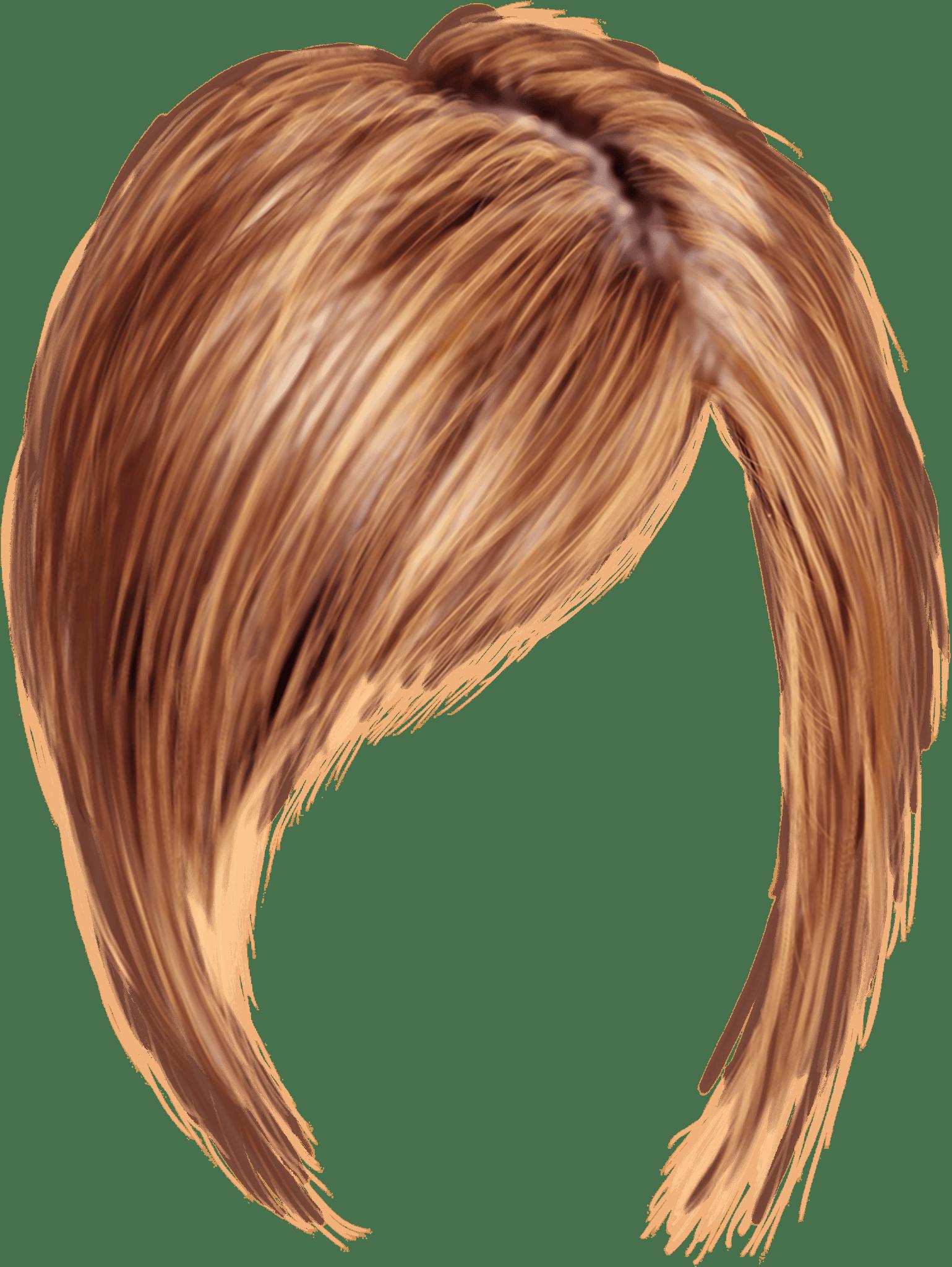 Short Women Hair transparent PNG.