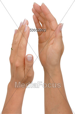 Stock Photo Woman Hands Clapping Clipart.