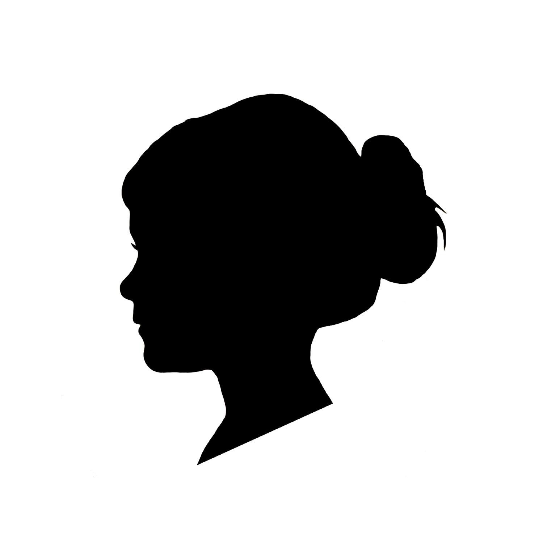 Side Profile Silhouette Female Head.