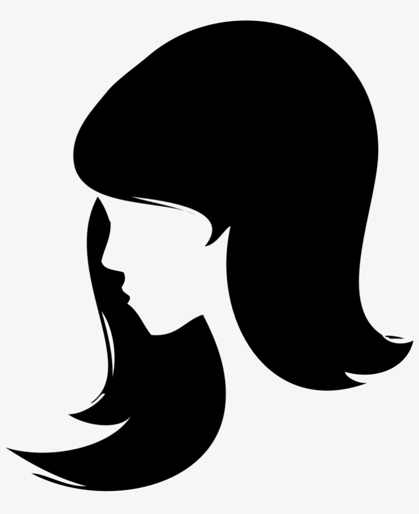 Woman Face Silhouette Png Banner Library Library.
