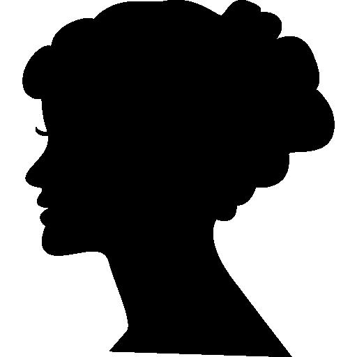 Female head silhouette Icons.
