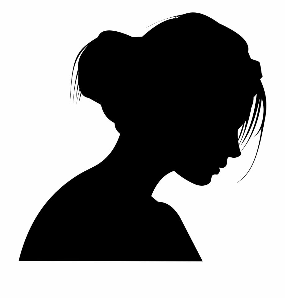 Female Head Profile Silhouette By Merio.