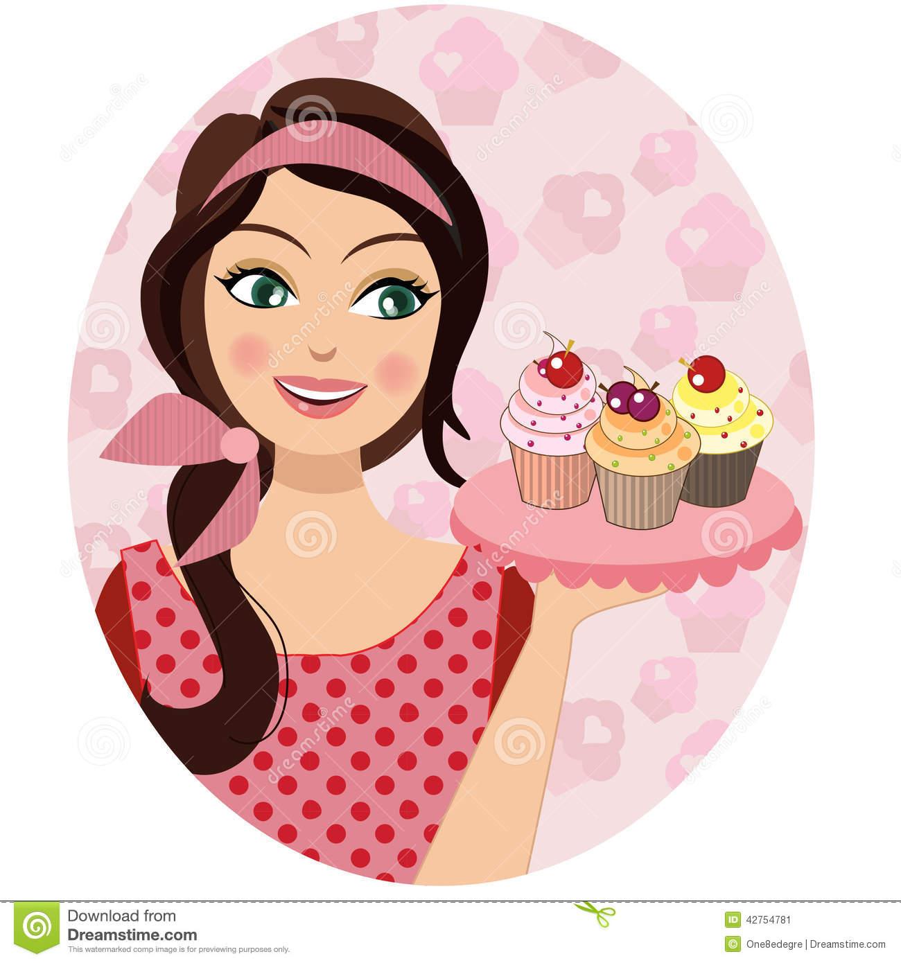 Cupcake Baker Clipart.