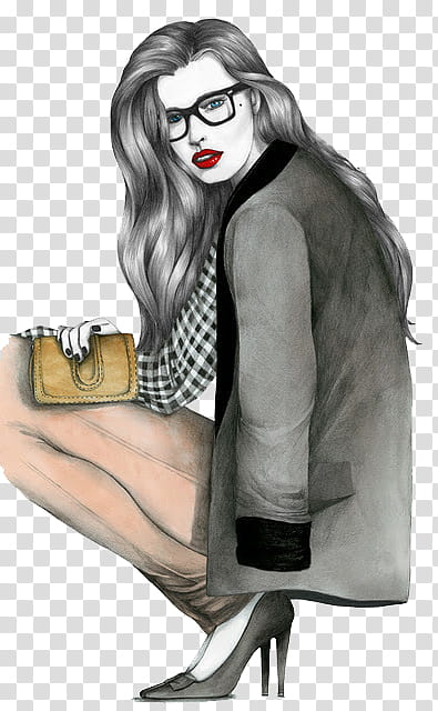 Miscellaneous woman holding wallet transparent background.