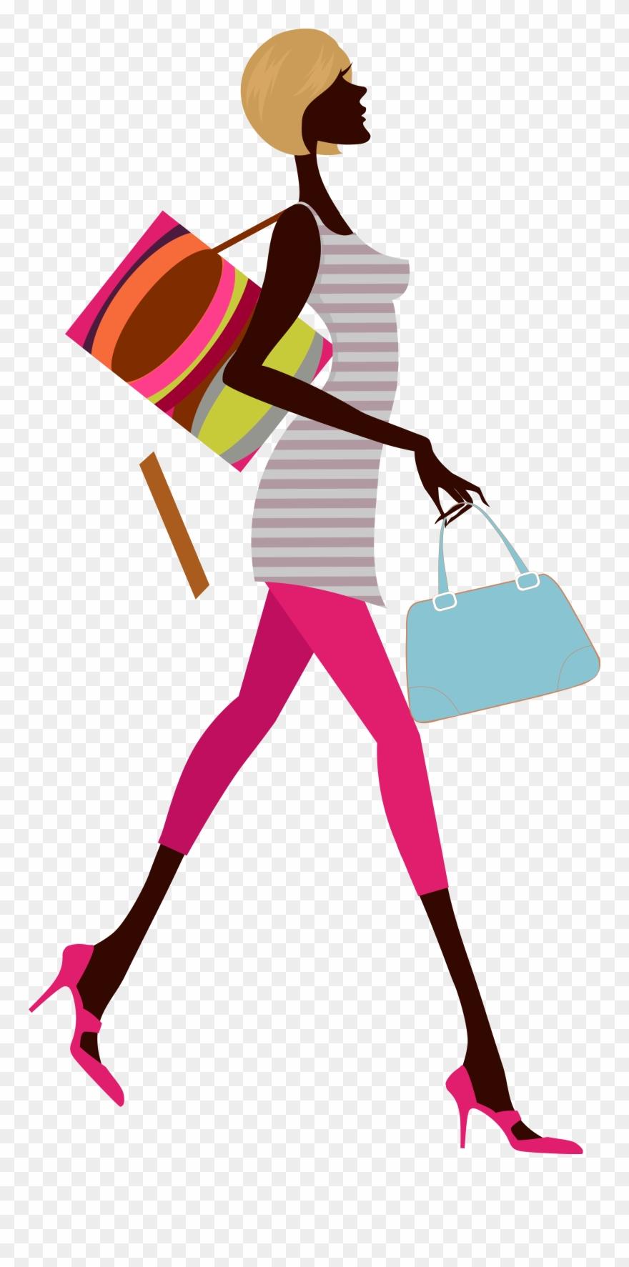 Fashion Woman A Carrying Bag.