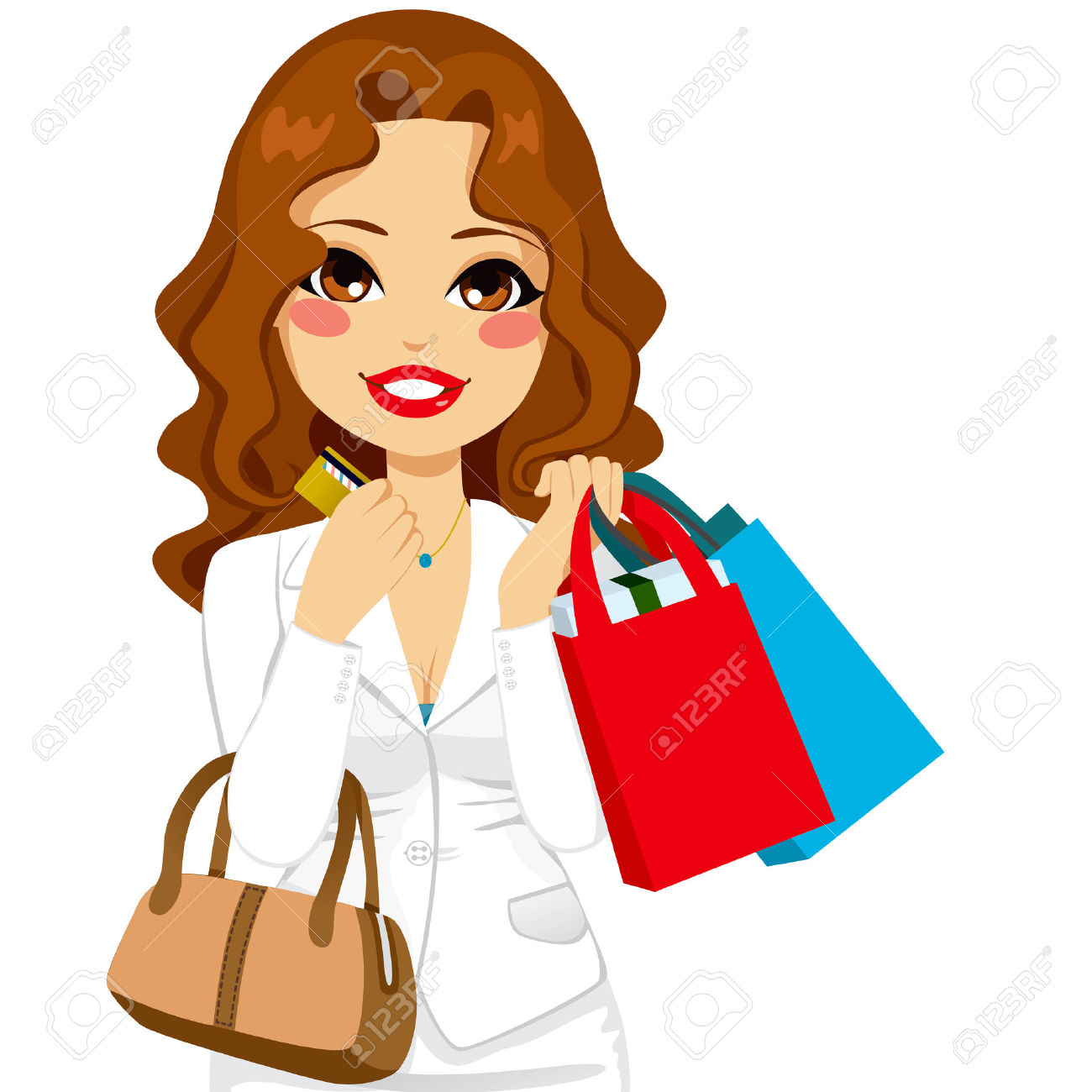 Ladies Shopping Bag Clipart.