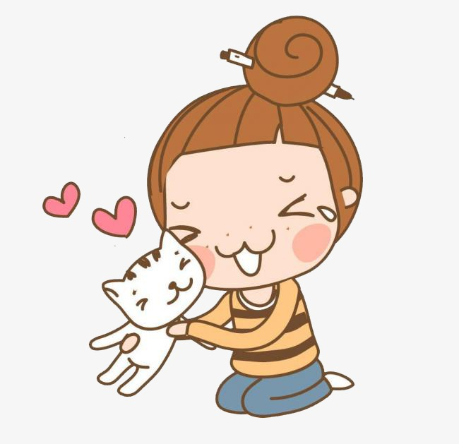 Little Girl With Cat Png & Free Little Girl With Cat.png.