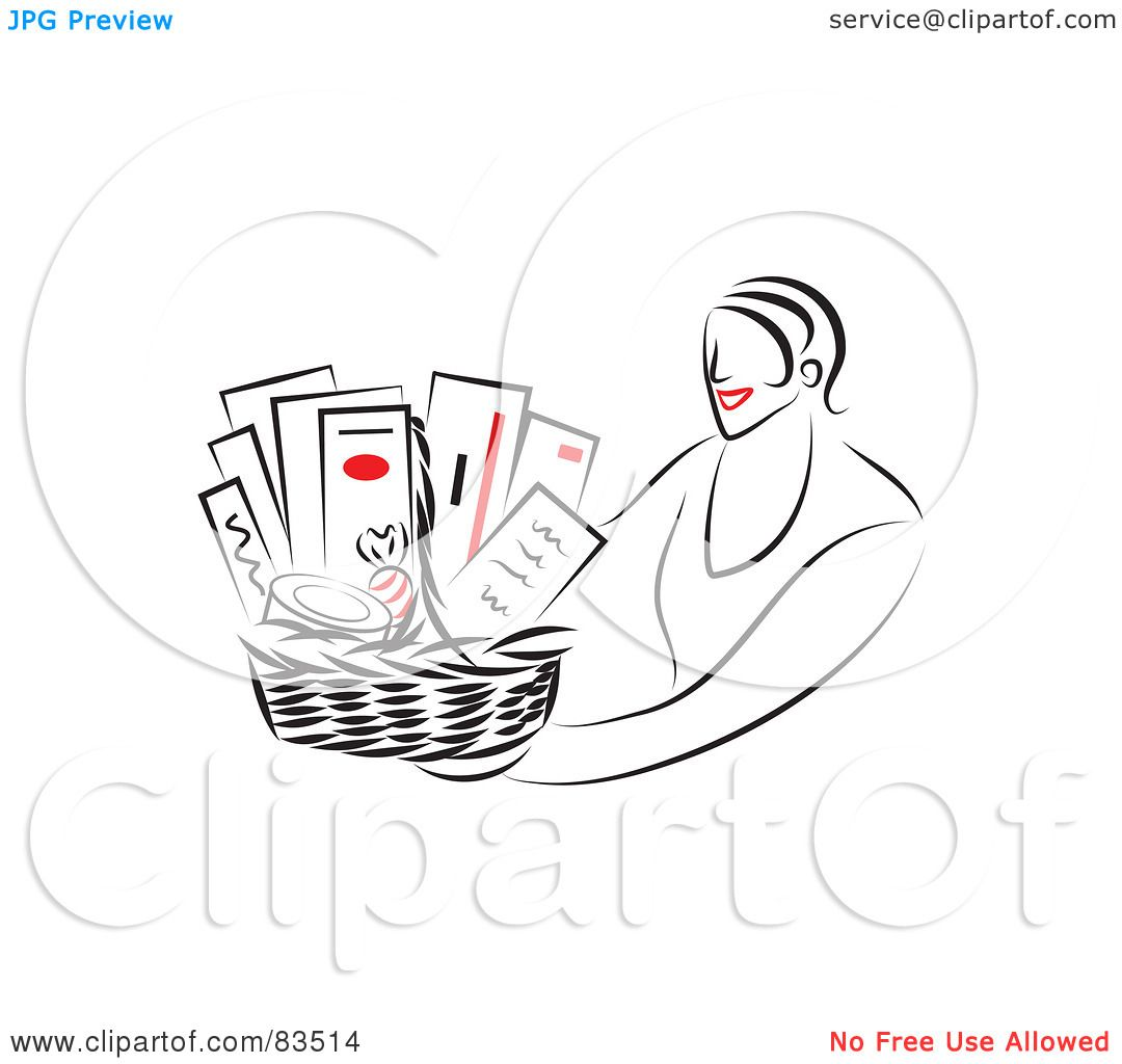Showing post & media for Cartoon woman holding gift baskets.