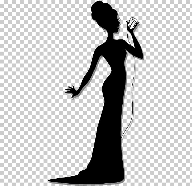 Silhouette Singing Singer Female , Singer, silhouette of.